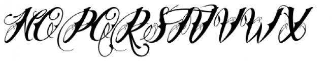 Chika Tattoo Slant Font UPPERCASE
