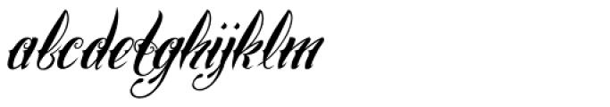 Chika Tattoo Slant Font LOWERCASE