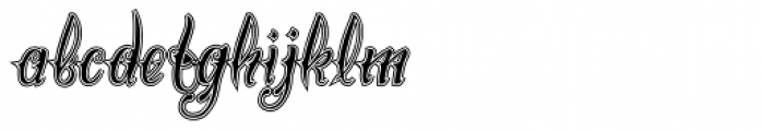 Chika Tattoo Thin College Font LOWERCASE