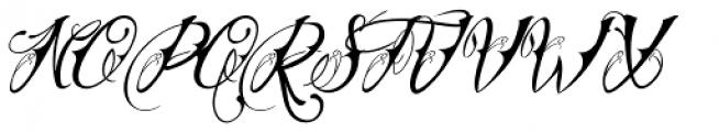 Chika Tattoo Thin Slant Font UPPERCASE