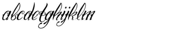 Chika Tattoo Thin Slant Font LOWERCASE
