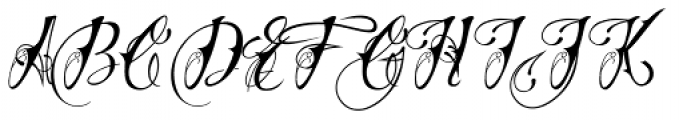 Chika Tattoo Thin Font UPPERCASE