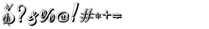 Chika Tattoo White Font OTHER CHARS