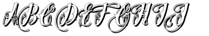 Chika Tattoo White Font UPPERCASE