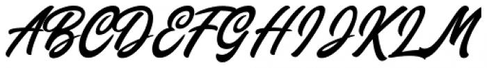 Chillout Regular Font UPPERCASE