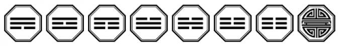 Chinese Zodiac Font LOWERCASE