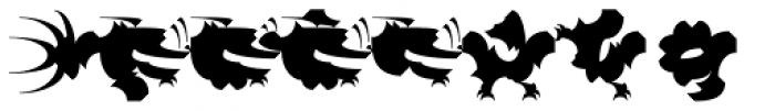 Chineze Dragon 1 Font OTHER CHARS