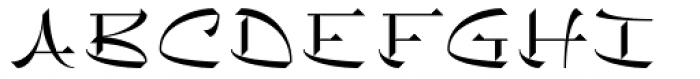 Chineze Light Font UPPERCASE