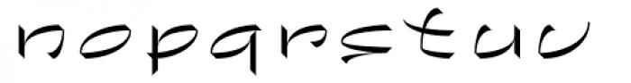 Chineze Light Font LOWERCASE
