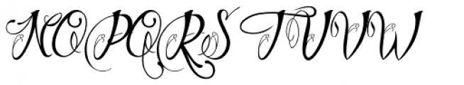 Chino Tattoo Thin Font UPPERCASE