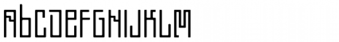 Chinoise Font LOWERCASE