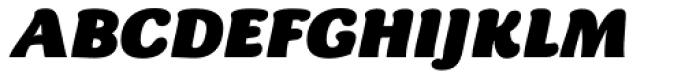 Chipa Black Italic Font UPPERCASE