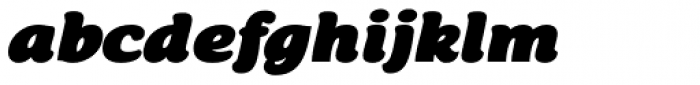 Chipa Black Italic Font LOWERCASE