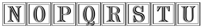 Chisel Initials D Font UPPERCASE