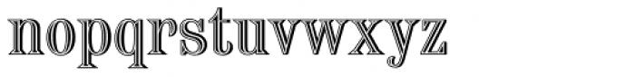 Chisel Initials D Font LOWERCASE