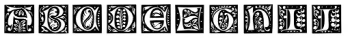 Chiswick Illuminated Caps Outline Font UPPERCASE