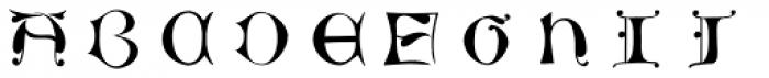 Chiswick Illuminated Caps Font LOWERCASE