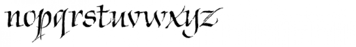Chivalry Decorative Font LOWERCASE