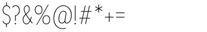 Chogolisa Thin Font OTHER CHARS