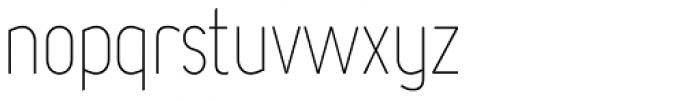 Chogolisa Thin Font LOWERCASE