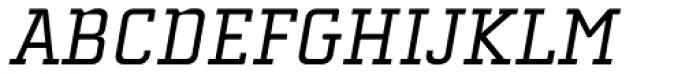 Cholla Slab Oblique Font UPPERCASE