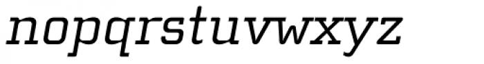 Cholla Slab Oblique Font LOWERCASE