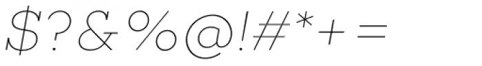 Choplin Thin Italic Font OTHER CHARS
