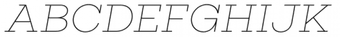 Choplin Thin Italic Font UPPERCASE