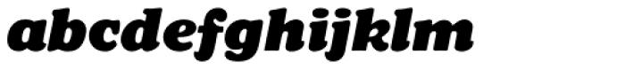 Chopped Black Italic Font LOWERCASE