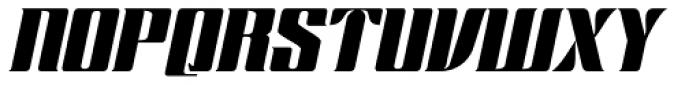 Chopper Italic Font UPPERCASE