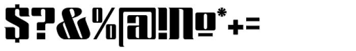 Chopper Font OTHER CHARS