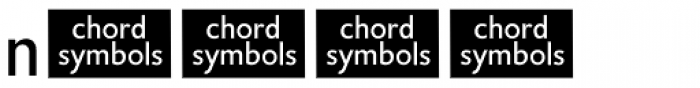 Chord Symbols Font UPPERCASE