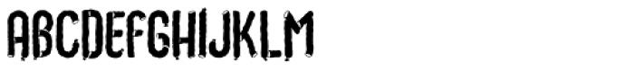 Choriza Background Font LOWERCASE