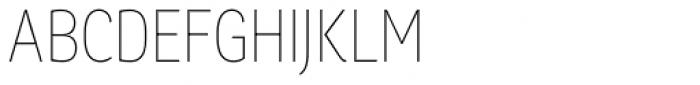 Chorus Cond Thin Font UPPERCASE