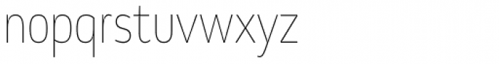 Chorus Cond Thin Font LOWERCASE