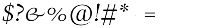 Christel Display Light Italic Font OTHER CHARS