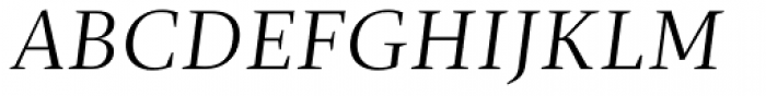 Christel Display Light Italic Font UPPERCASE