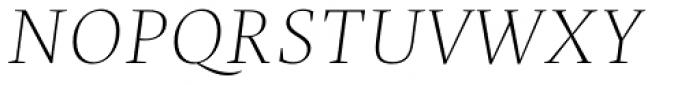 Christel Display Thin Italic Font UPPERCASE