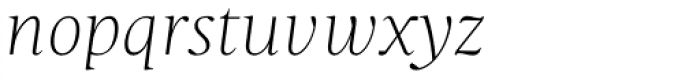 Christel Display Thin Italic Font LOWERCASE