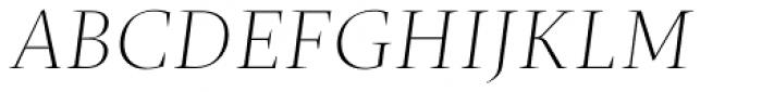 Christel Poster Thin Italic Font UPPERCASE