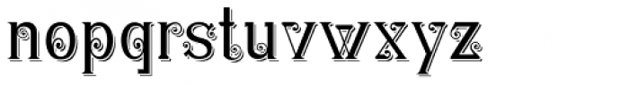 Christel Wagner Clean Fine Shadow Font LOWERCASE