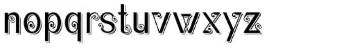 Christel Wagner Clean Sans Serif Shadow Font LOWERCASE