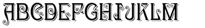 Christel Wagner Clean Shadow Font UPPERCASE