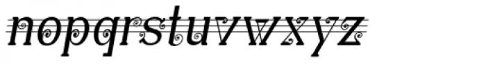 Christel Wagner Minuskel Italic Font LOWERCASE