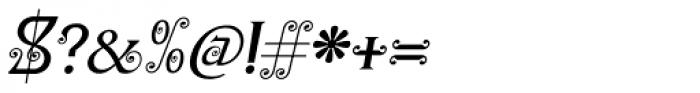 Christel Wagner Regular Fine Italic Font OTHER CHARS