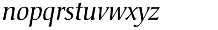 Christiana BQ Italic Font LOWERCASE