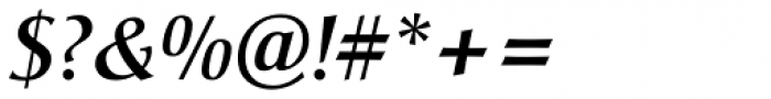 Christiana BQ Medium Italic Font OTHER CHARS