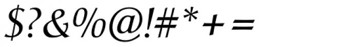 Christiana Pro Italic Font OTHER CHARS