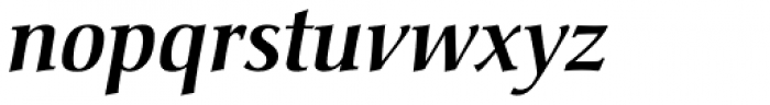 Christiana Pro Medium Italic Font LOWERCASE