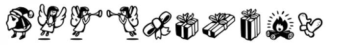 Christmas Dingbats 1 Font UPPERCASE